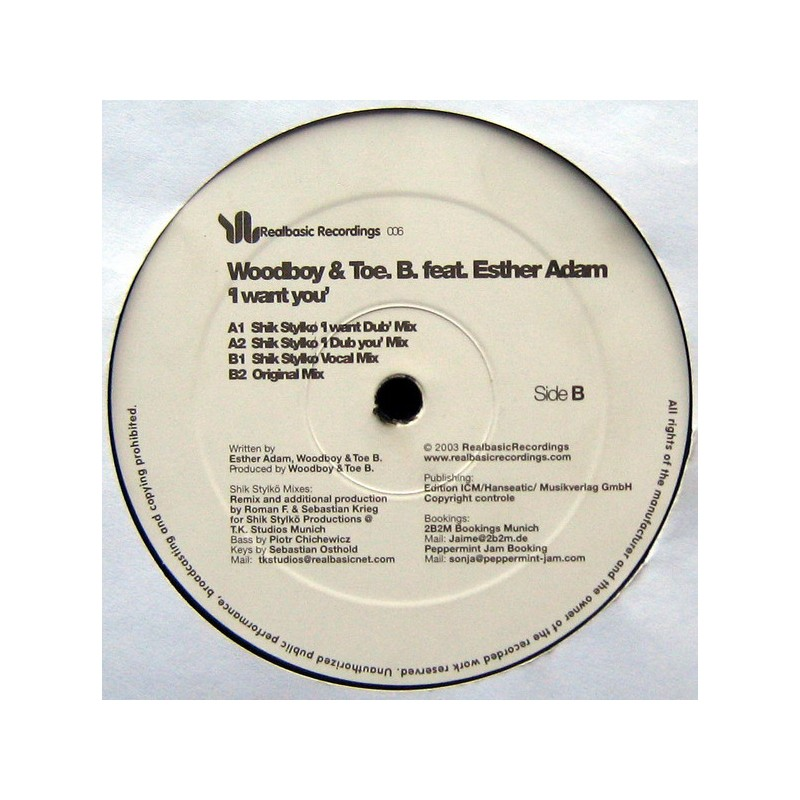 WOODBOY & TOE.B. Feat. ESTHER ADAM - I Want You