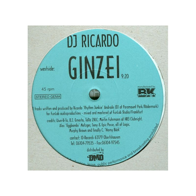 DJ RICARDO - Ginzei
