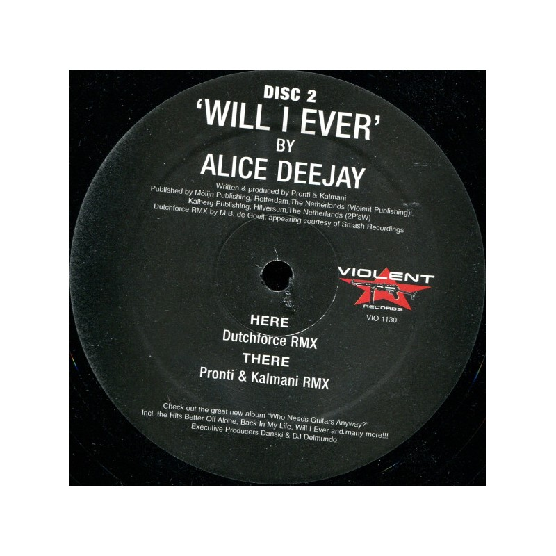 ALICE DEEJAY - Will I Ever - Disc 2