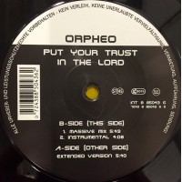 Vinyle - ORPHEO - Put Your Trust In The Lord