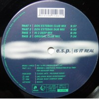 Vinyle - E.S.P. - Is It Real